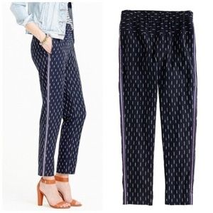 J. CREW Metallic Side Stripe Ikat Print Joggers 4